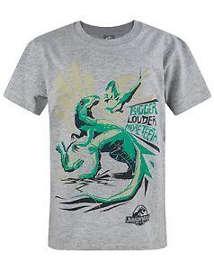 BrandNew Official Jurassic World Bigger Teeth Boys Kids T-Shirt 5-6,7-8,12-14Yrs