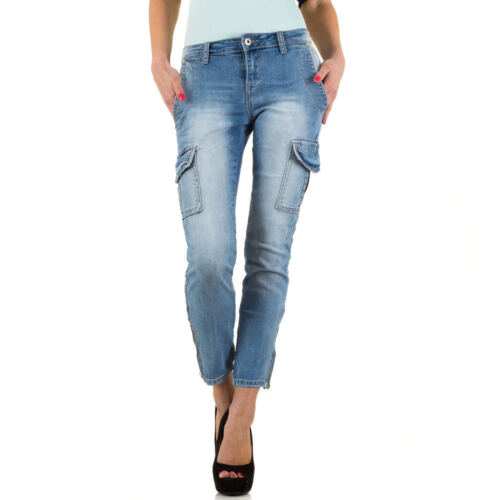 Damen Used Look Cargo Skinny Jeans 2940 Ital-design