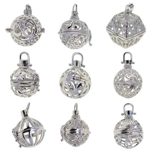 9 un Blank Perlas Colgante Collar medallón encantos jaula Colgantes configuración