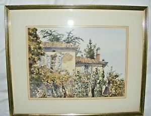 VINTAGE-WATERCOLOUR-PAINTING-JAN-GREGSON-WELSH-ARTIST-CONTINENTAL-SCENE-SIGNED