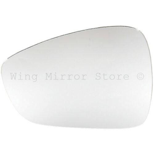 Left Passenger Side WING DOOR MIRROR GLASS For Citroen C3 2009-On Stick On