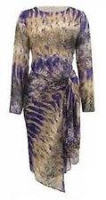 TWIGGY For M&S WOMAN Snakeskin Print Drape Asymmetric Hem Chiffon Dress BNWT