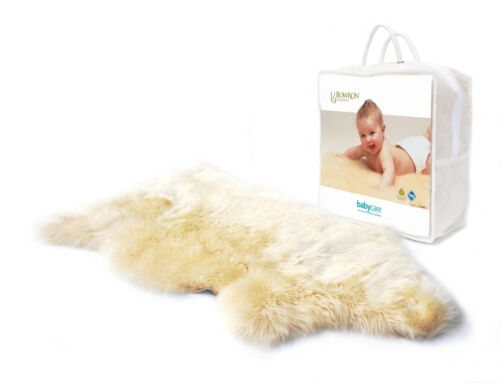 Bowron Babycare UNSHORN LAMBSKIN RUG FOR BABY COT Bedding//Sleeping BNIP