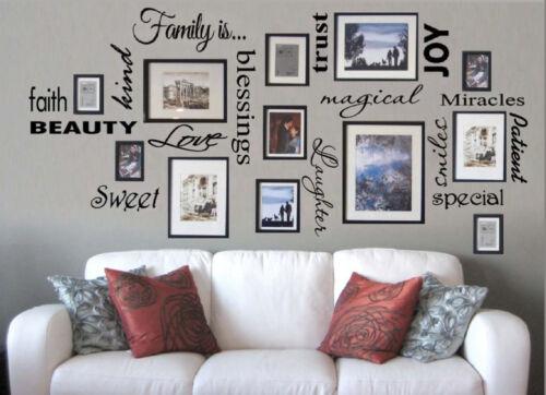 Livraison gratuite famille est Vinyle Mur Lettrage Cite Art for Family Room Decor