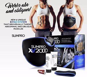 Slim-Pro-XV2000-Toning-Belt-Ab-Belts-Muscle-Abdominal-Stomach-Toner-Fitness-Gym