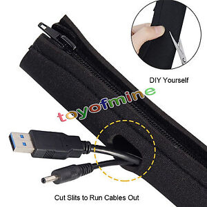 Cable management organizer neoprene cable cord wire cover hider image is loading cable management organizer neoprene cable cord wire cover solutioingenieria Gallery