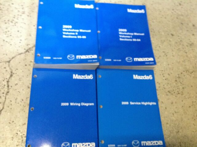 2009 Mazda Mazda6 Service Repair Workshop Shop Manual Set W Ewd  U0026 Highlights Oem