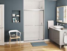 "MAAX KAMELEON 55"" x 71"" SEMI-FRAMELESS SLIDING SHOWER DOOR 1/4"" CLEAR/CHROME"