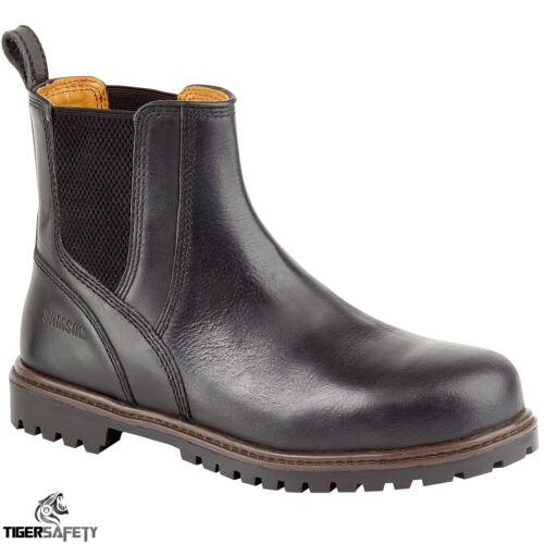 Samson 7047 S3 SRC Black Leather Steel Toe Chelsea Dealer Safety Boots Work Boot