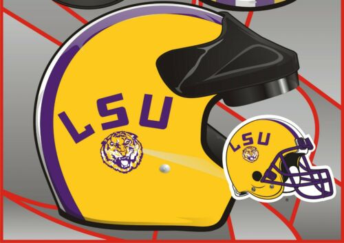 Mopeds Scooters All Types DOT Louisiana State University Motorcycle Helmet LSU