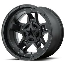 18 Inch All Satin Black Rims Wheels XD Series XD827 Rockstar III Chevy GMC 6 Lug