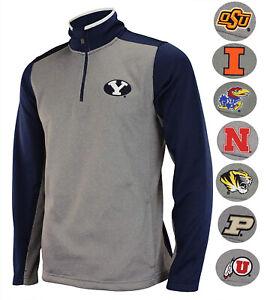 Outerstuff-NCAA-Men-039-s-Top-Notch-1-4-Zip-Jacket-Team-Variation