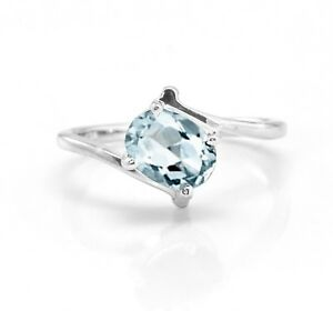 925-Sterling-Silver-Ring-Natural-Blue-Aquamarine-Solitaire-Size-4-11