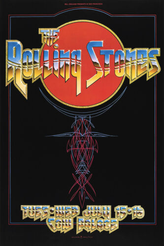 The Rolling Stones Cow palace concert poster canvas print