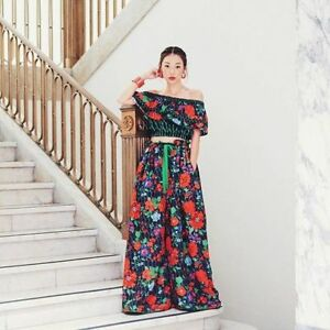 d91e10074e33 KENZO x H&M Floral Reversible Silk Blend Pants Wide Leg Trousers ...