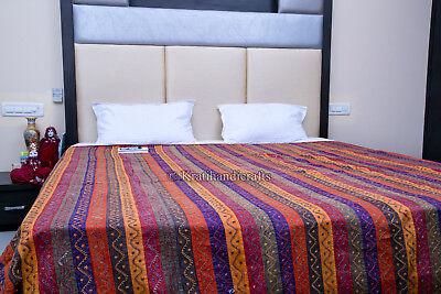 Gypsy Gudari Vintage Blanket Kantha Quilt Ralli Throw King Bedspread Bohemian