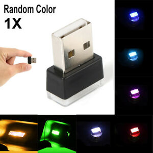 Mini-USB-LED-Car-Auto-Interior-Light-Neon-Atmosphere-Ambient-Lamps-Random-Color
