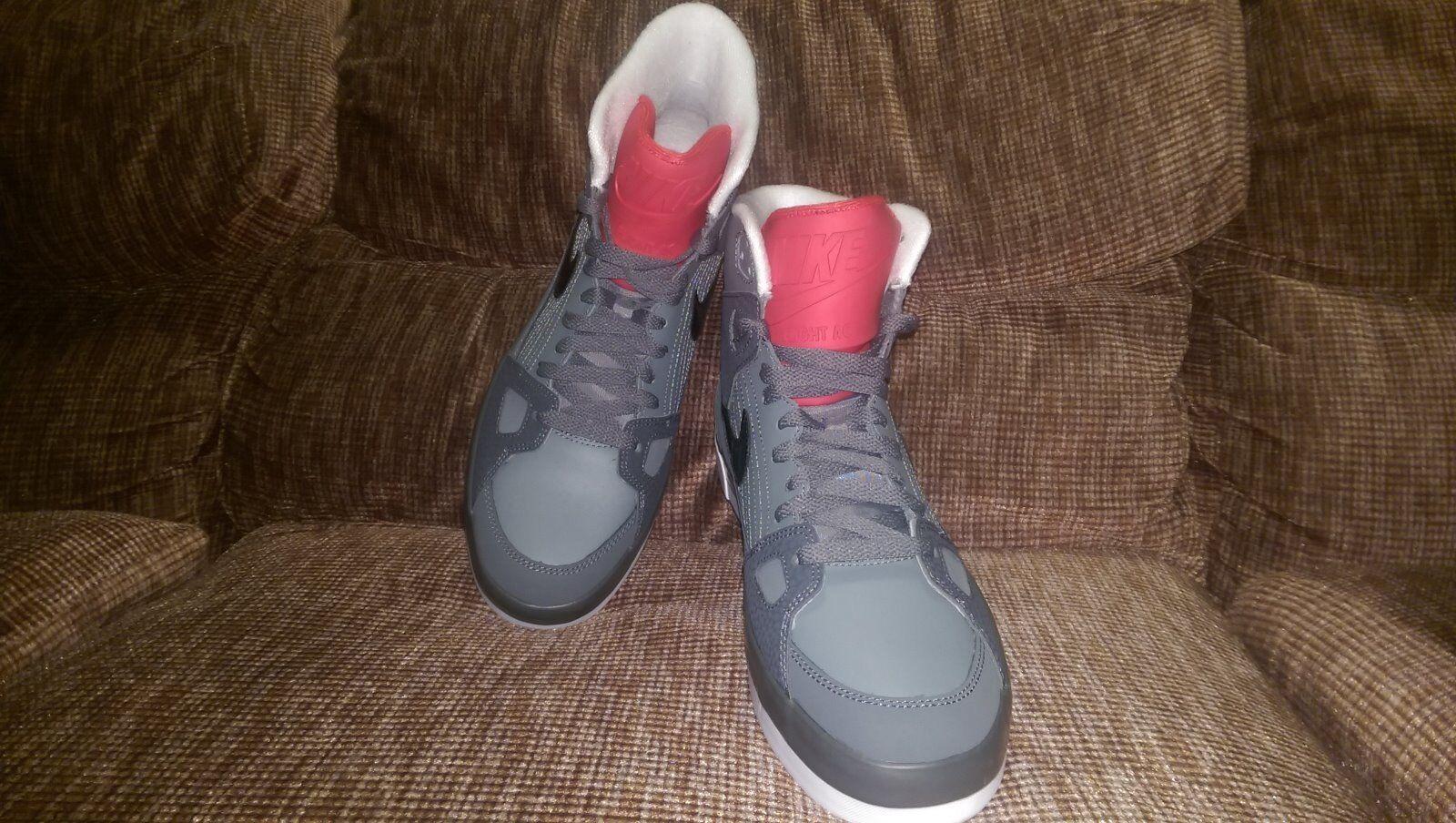 Men's Nike Air Flight AC Red Grey White Sz 10.5 High-Top Sneakers 577128-003