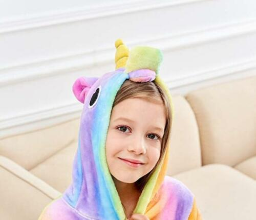 Girl Unicorn Dressing Bathrobe Gown Pyjamas Twosie Pyjamas Ages 2-13 years UK