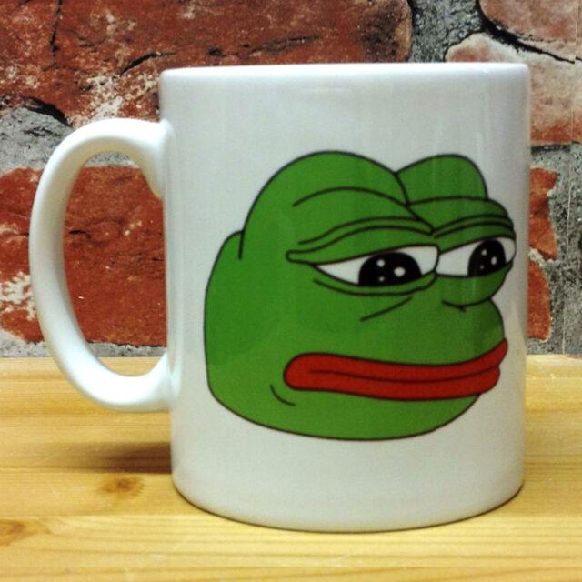 Rare Pepe The Sad Frog Mug 11oz Cup Gift Present Funny Meme Rare