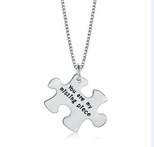 UK-925-SILVER-PLT-039-YOU-ARE-MY-MISSING-PIECE-039-JIGSAW-PUZZLE-ENGRAVED-NECKLACE