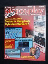 STEREOPLAY 1/85 CANTON EP-P1, AUDIOLABOR STARK,P3, FIDELIX LB-4 ,MARANTZ SR 520