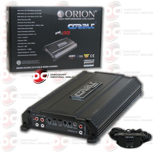 ORION CB1500.1D 1-CHANNEL MONO BLOCK CAR AUDIO AMP AMPLIFIER 750 WATTS RMS