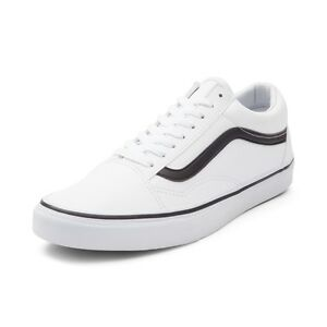 Details about New Vans Old Skool Skate Shoe White Black Leather Oreo MENS Shoes