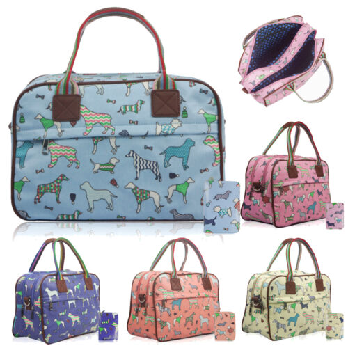 Ladies Maternity Pet Dogs in Jumpers Pattern Day Bag Travel Hand Luggage Purse