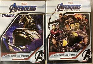 2-Sets-Packs-Avengers-Endgame-amp-Thanos-52-Card-Playing-Deck-Cards-Official-Poker