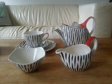 RARE MIDWINTER ZAMBESI TEA SET FOR ONE WITH EXTREMELY RARE TEAPOT 50'S/60'S MINT