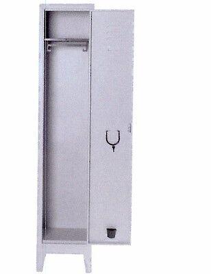 Armadio spogliatoio 1 posto in metallo misura 36x50x180 ...