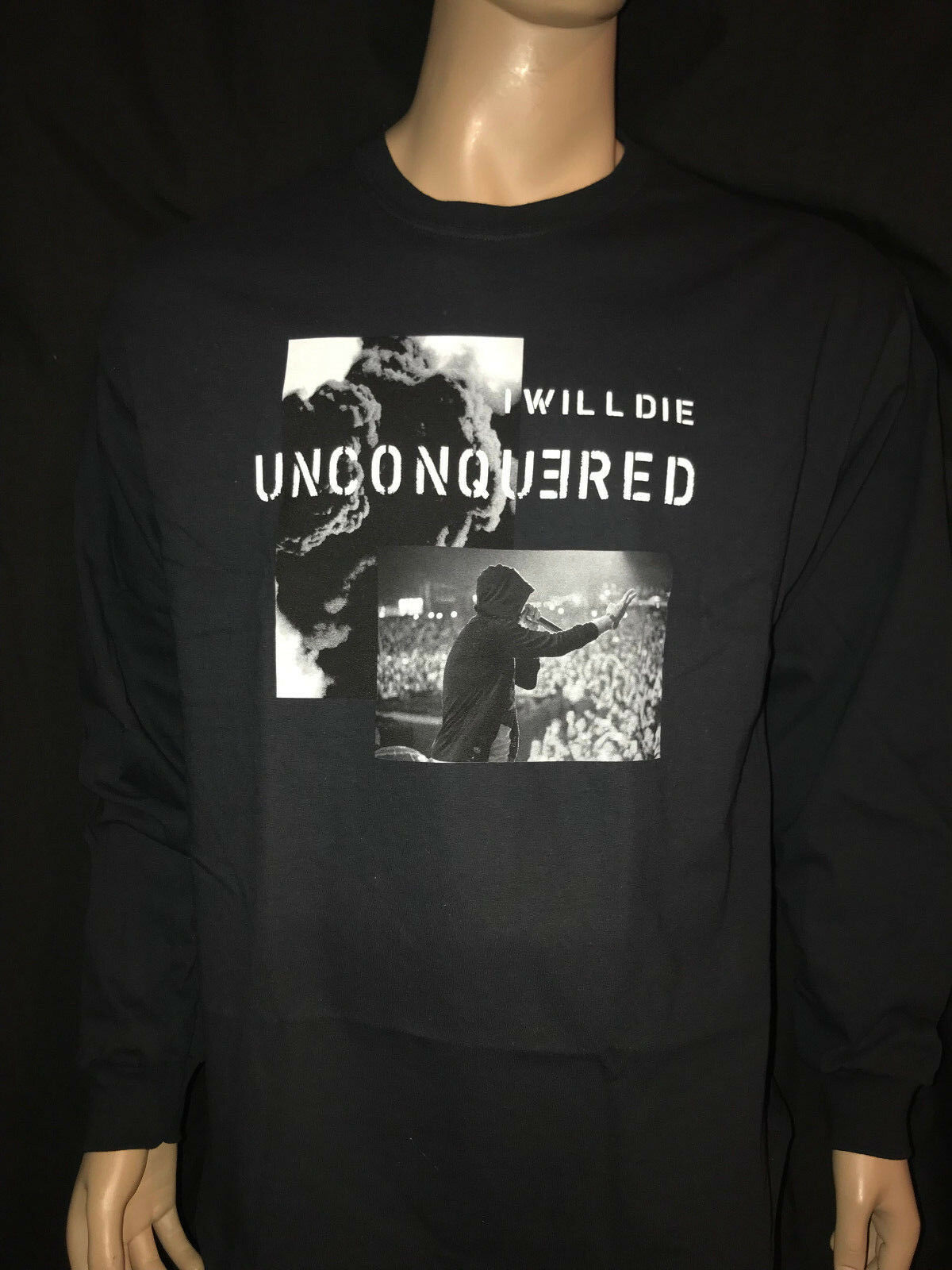 Authentic Eminem Kamikaze I Will Die Unconquered Men's Size XL l s T-Shirt Tee
