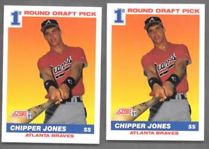 1991 Score #671 Chipper Jones Rookies 2 Atlanta Braves Baseball Cards