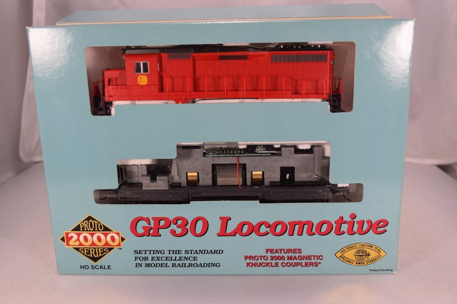 Life-like predo 2000 gp-30 locomotive new kcs-105 + 4 new axles changed
