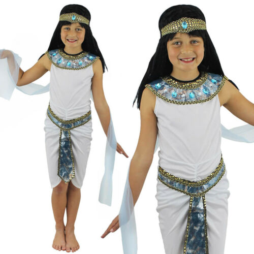 GIRLS EGYPTIAN COSTUME PRINCESS KIDS HISTORICAL CLEOPATRA BOOK DAY FANCY DRESS