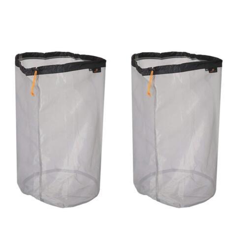 2x Ultralight Drawstring Nylon Mesh Stuff Sack Storage Bag for Tavelling Camping