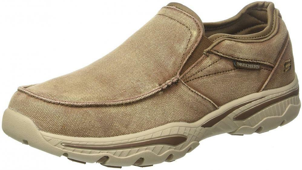 Homme Skechers Relaxed Fit-Creston-Moseco Mocassin Toile en marchant Chaussures Confort