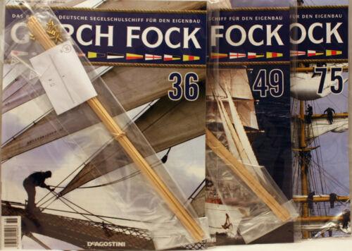"/""3 x Gorch Fock/"" Ausgaben 36// 49// 75**zum selber bauen**DeAgostini**Neu**"