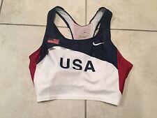 Nike USA Track & Field Team USA Olympics Sports Bra Run Top USATF Wmns Large NEW
