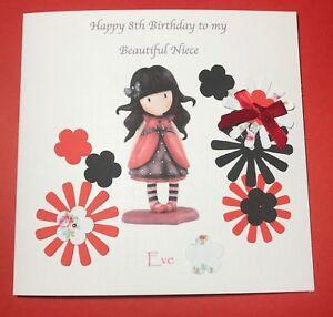 Image Is Loading Girls Birthday Card Handmade 5th 6th 7th 8th