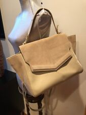 5eaba7eb8a item 2 NEW Halston Heritage Beige Large Mixed Media Satchel Leather Purse  Bag -NEW Halston Heritage Beige Large Mixed Media Satchel Leather Purse Bag