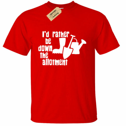 KIDS BOYS GIRLS I/'d rather be down the allotment T Shirt Gardening Funny