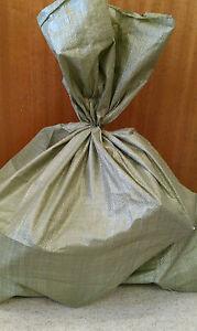 GREEN-POLYPROPYLENE-WOVEN-SACKS-BAGS-5-SIZES-AVAILABLE-VERY-STRONG-RUBBLE-SACKS