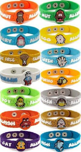 AllerMates WHEAT Allergy Wristband Medical Alert ID Gluten Celiac Bracelet NEW