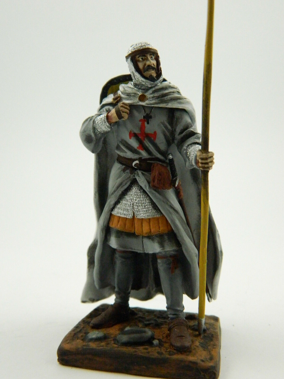 Middle Ages — Knight Templar, 1134 — 75 mm Lead Figure