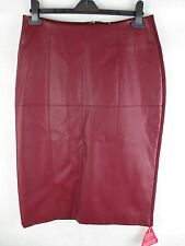 Forever Unique - Pencil Skirt - Red PU - Size 14 - NWT