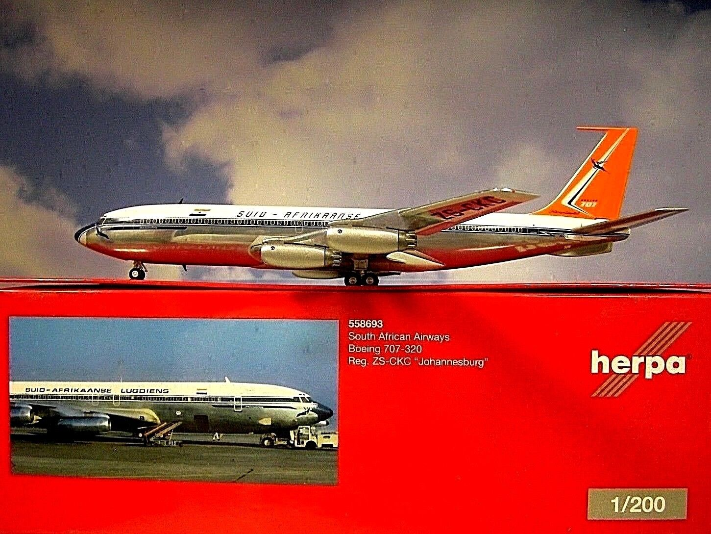 Herpa Wings 1:200 Boeing 707-320 South Africano Airways ZS-CKC 558693