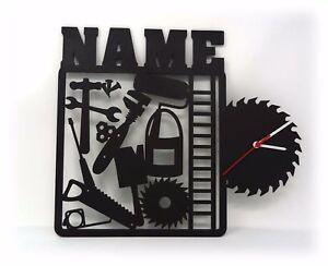 Heimwerker Handwerker Wand Uhr Mit Namen Lustige Witzige Buro