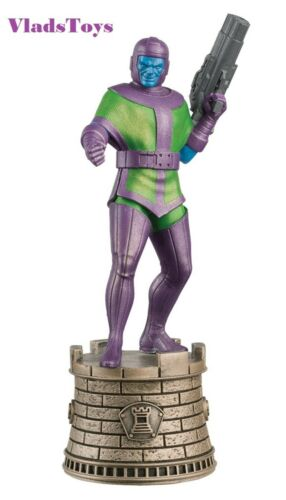 Eaglemoss Marvel Chess Collection Kang Chess Piece #11 w// Magazine Black Rook